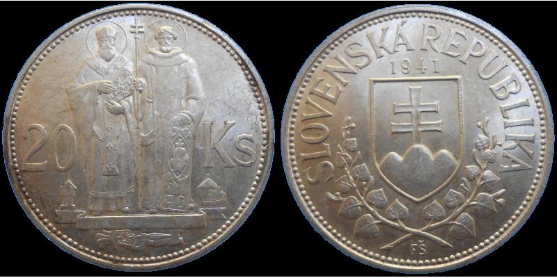 20 KS 1941 Cyril a Metod - dvojkríž