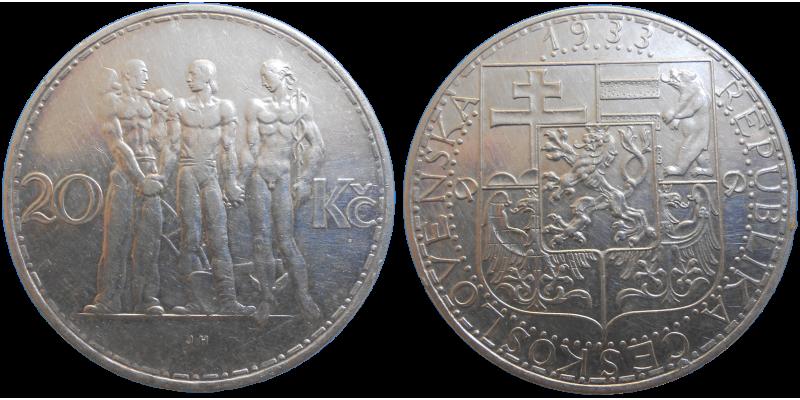 20 Kč 1933