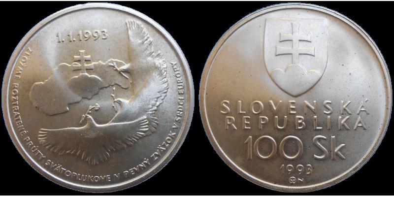 100 SK 1993 Vznik Slovenskej republiky