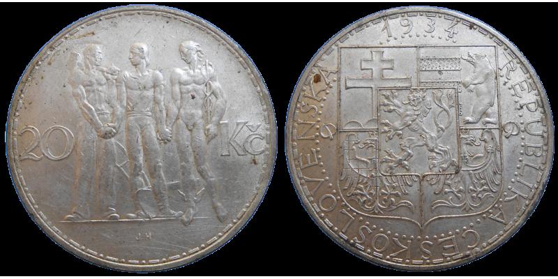 20 Kč 1934