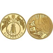 100 euro 2015 Karpatské Bukové Pralesy