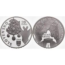 20 Euro 2014 Chránený areál Dubnícke bane - nálezisko opálov