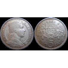 Lotyšsko 5 Lati 1931