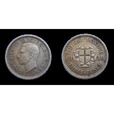 Anglicko 3 Pence 1938