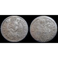 Arcivojvoda Žigmund František 3 grajciar 1663