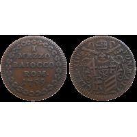 Vatikán 1/2 Baiocco 1759