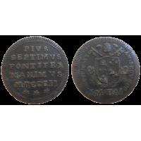 Vatikán 1/2 Baiocco 1802