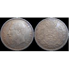 Belgicko 5 Frank 1868