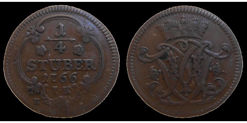 Arcibiskupstvo Kolín 1/4 Stuber 1766 IK