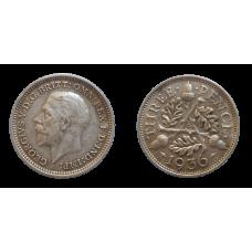 Anglicko 3 Pence 1936