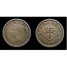 Anglicko 3 Pence 1937