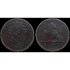 Belgicko 2 Cent 1873