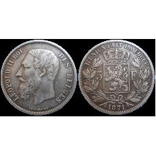 Belgicko 5 Frank 1871