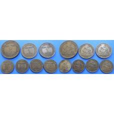 Francúzsko konvolut mincí