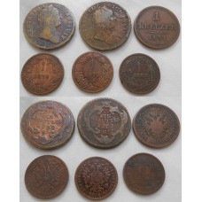 Konvolut medených mincí