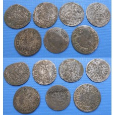 Leopold I. Konvolut 7 kusov mincí