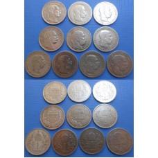 František Jozef I. konvolut Korún - 10 kusov minci