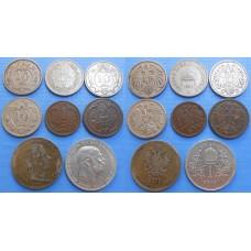 František Jozef I. Konvolut mincí