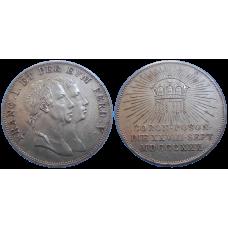 František II. Veľký Bratislavský korunovačný žetón 1830