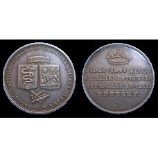 František II. žetón 1815 Holdovanie v Benátkach