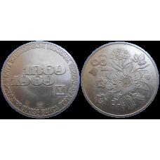 Strieborný žetón - 100 rokov Švajčiarskej Nár. Banky