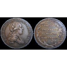 Jozef II. Žetón 1781 Holdovanie v Belgicku
