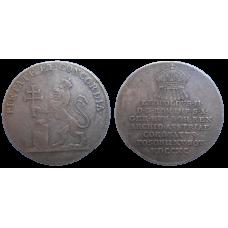 Leopold II. Bratislavský korunovačný žetón 1790