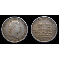 Ferdinand V. Korunovačný žetón 1838