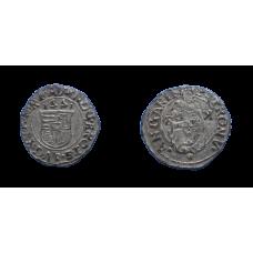 Maximilián II. denár dobový falzifikát