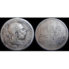 František Jozef I. 1 koruna 1902 bz