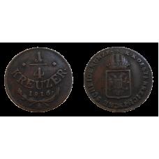 František II. 1/4 grajciar 1816 A Chyborazba