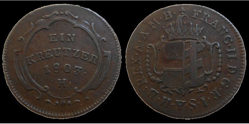 František II. 1 grajciar 1803 H