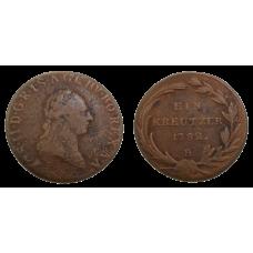 Jozef II. 1 grajciar 1782 B