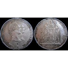 František Jozef I. svadobný 1 zlatník 1854 A