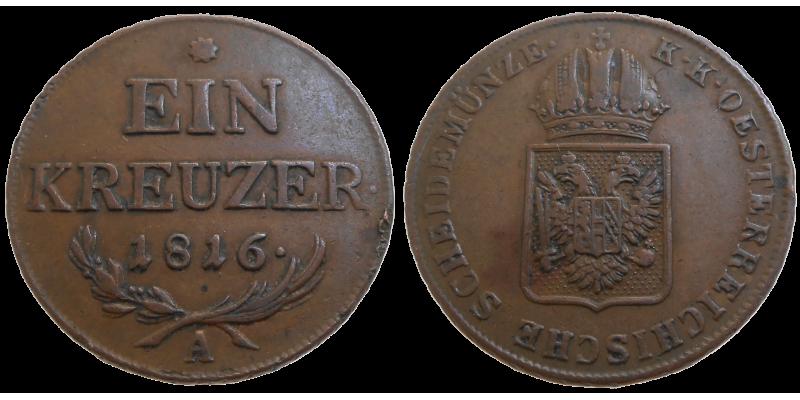 František II. 1 grajciar 1816 A