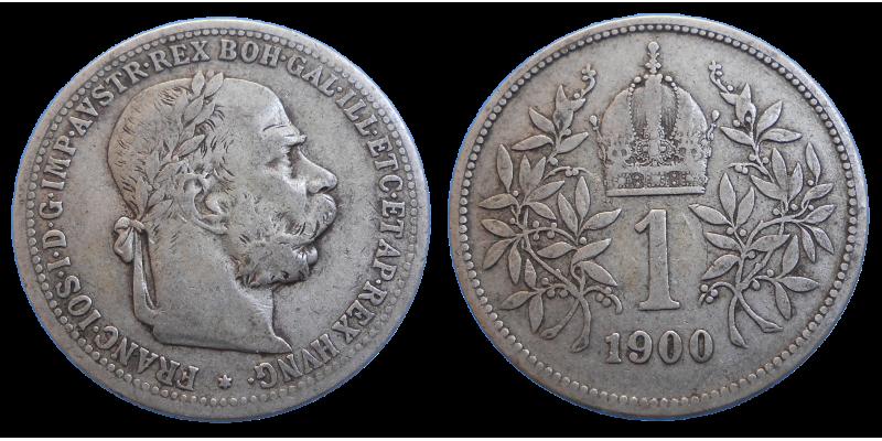 František Jozef I. 1 koruna 1900 bz