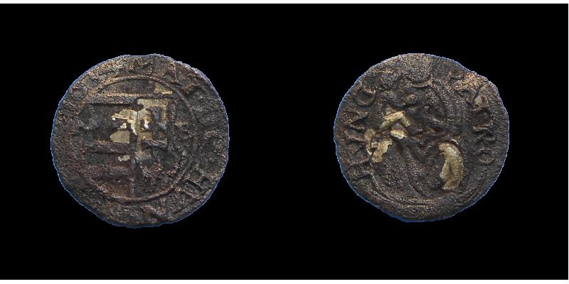 Matej II. denár 1614 NB R!