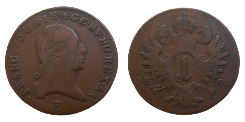 František II. 1 grajciar 1800 F
