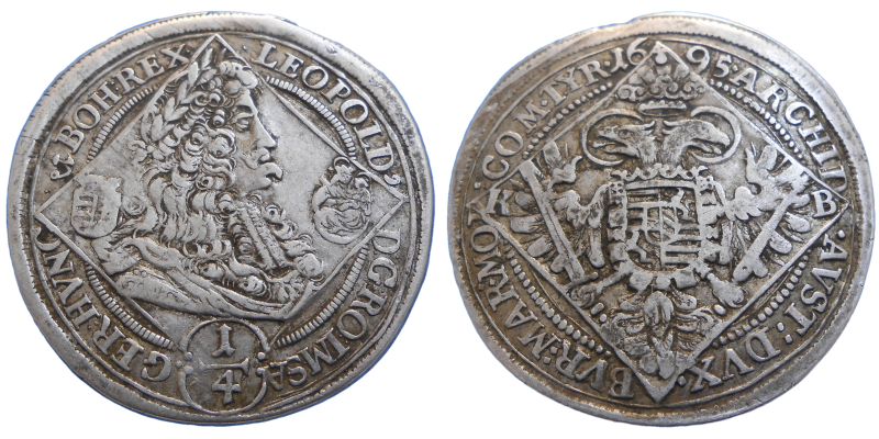 Leopold I. 1/4 Toliar 1695 KB