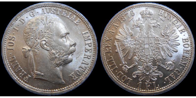 František Jozef I. 1 zlatník 1876 bz