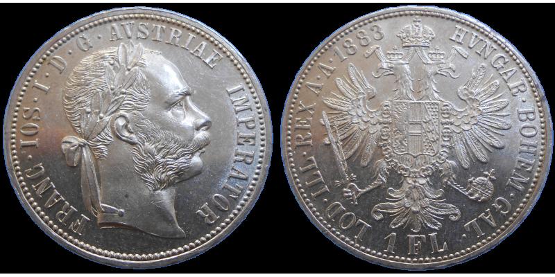 František Jozef I. 1 zlatník 1883 bz