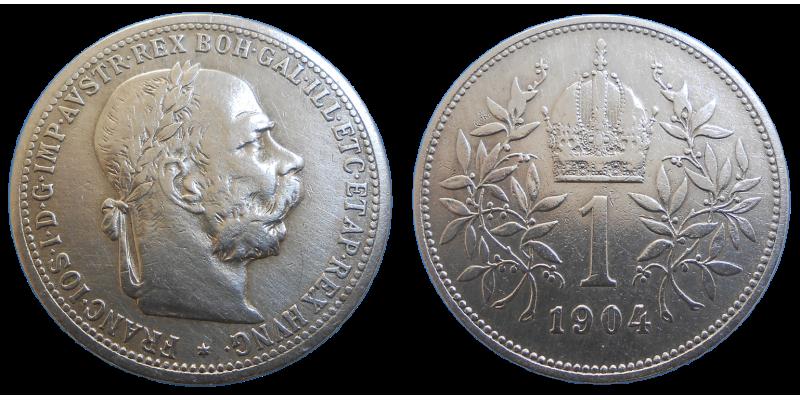 František Jozef I. 1 koruna 1904 bz