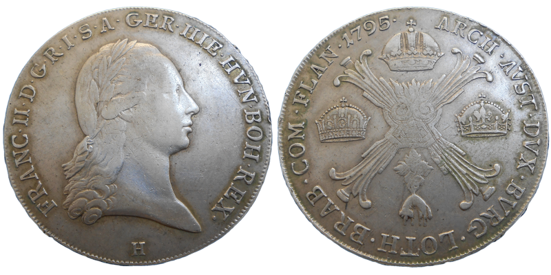 František II. Krížový toliar 1795 H