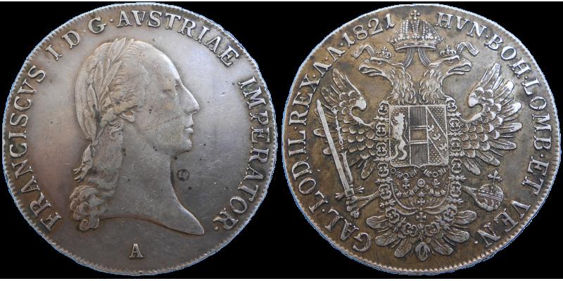 František II. Toliar 1821 A