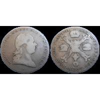 Leopold II. Krížový 1/4 Toliar 1791 A