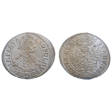 Leopold I. 3 grajciar 1696 GE Praha