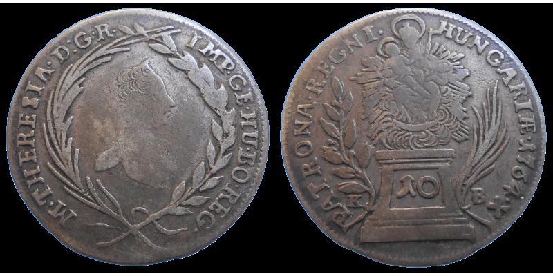 Mária Terézia 10 grajciar 1764 KB