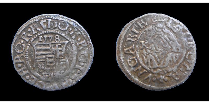 Rudolf II. denár 1578 KB