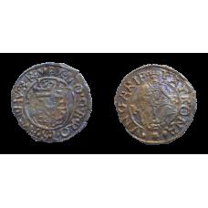 Maximilián II. denár 1571 KB