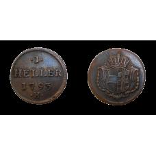 František II. 1 Heller 1793 H